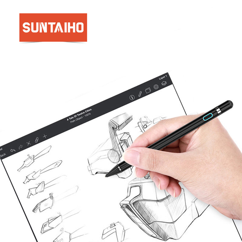 Suntaiho Tablet Pen for apple pencil new stylus capacitance touch Pencil For Apple iPad Pro for iPad 9.7 (2017) for iPad 1 2 3|Tablet Touch Pens| |  - title=