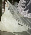 2.8M Lace Long White Bridal Veils Cathedral Wedding Veil Mantilla Veu De Noiva Wedding Accessories Hair Decoration Of Bride