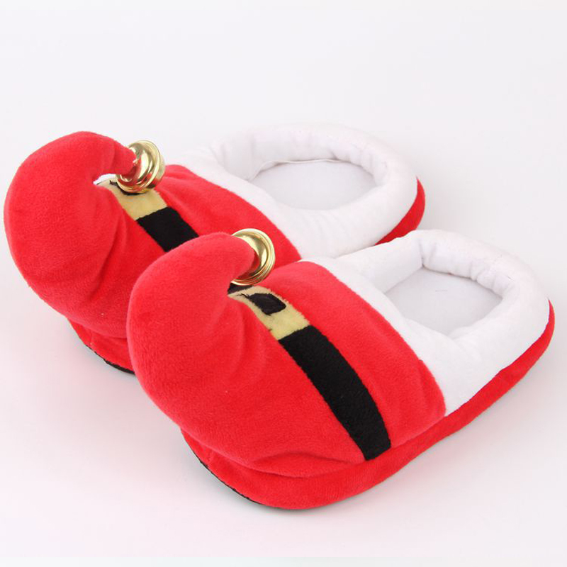 Christmas Slippers Baby Children Slippers Kids Winter Warm Flip ...