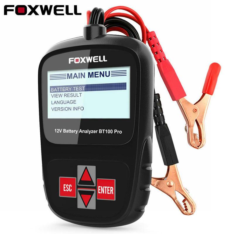 12V Car Battery Tester Analyzer Foxwell BT100 Pro 100 1100 CCA 30 200 AH Automotive 12