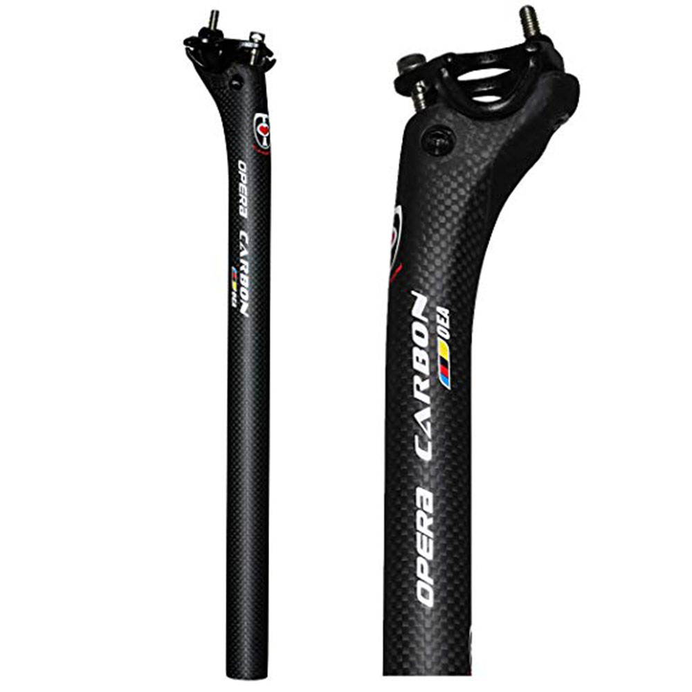 New Bike Full Carbon Bicycle Seatpost MTB Road Mountain Bike Carbon Seat Post Seat Tube 27.2/30.8/31.6*350/400 Mm Bicycle Parts