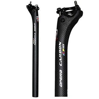 Nouveau vélo plein carbone vélo tige de selle vtt route VTT carbone siège tige de selle tube 27.2/30.8/31.6*350/400mm pièces de vélo