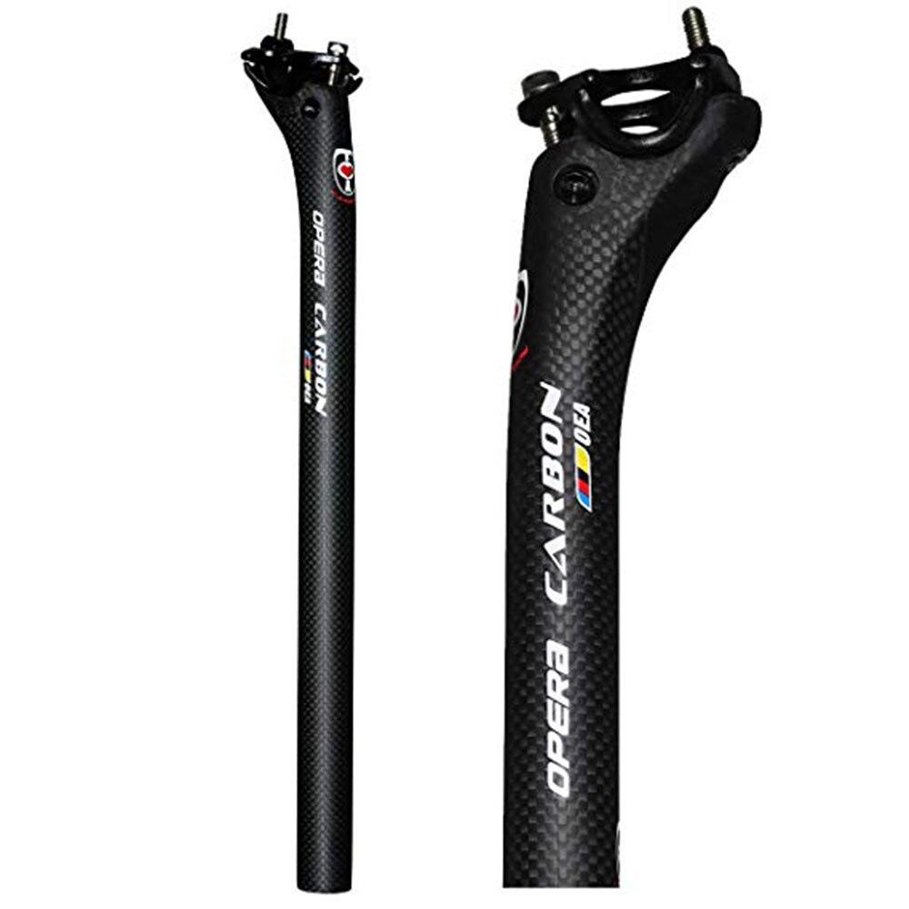 Nova bicicleta da bicicleta cheia de carbono selim MTB estrada mountain bike assento tubo do assento espigão carbono 27.2/30.8/31.6 * 350/400mm peças da bicicleta