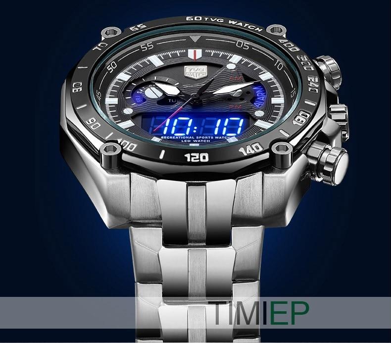 TVG Baru mewah fesyen pelbagai fungsi keluli kuarza tentera tentera - Jam tangan lelaki - Foto 3