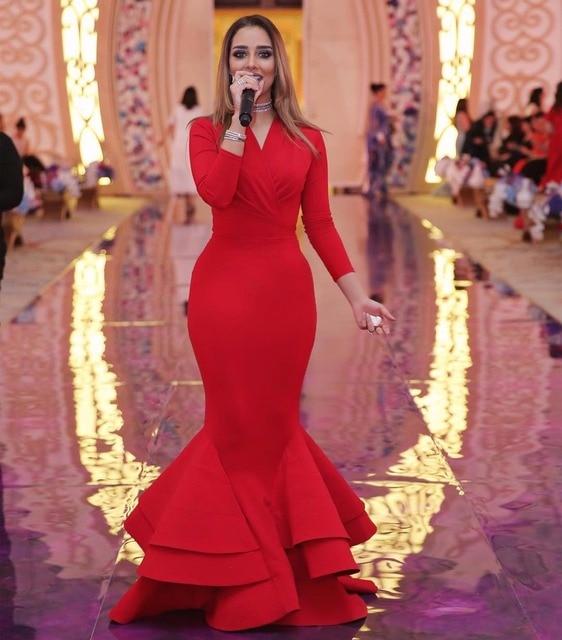 Fotos vestidos de noche rojos