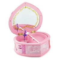 Bebé infantil Música Brinquedos Dos Desenhos Animados Caixa de Música caixa de Música Caixa de Jóias Bonito Rosa Roxo Brilhante
