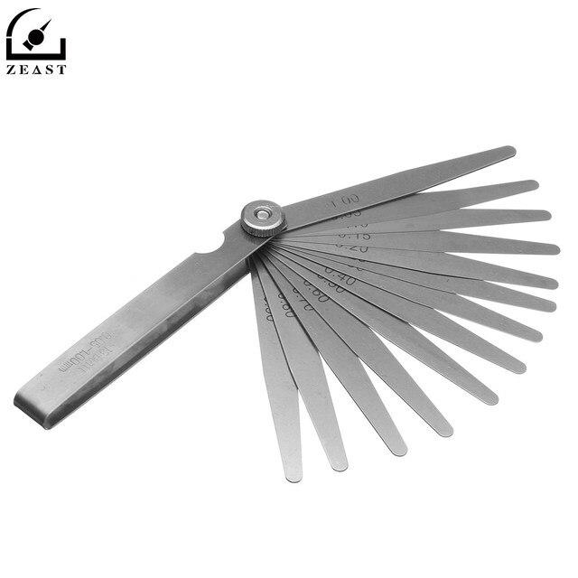 feeler gauge mm. 13 bilah feeler gauge 0.05-1.0mm ketebalan gage gap filler metric baja mengukur alat mm