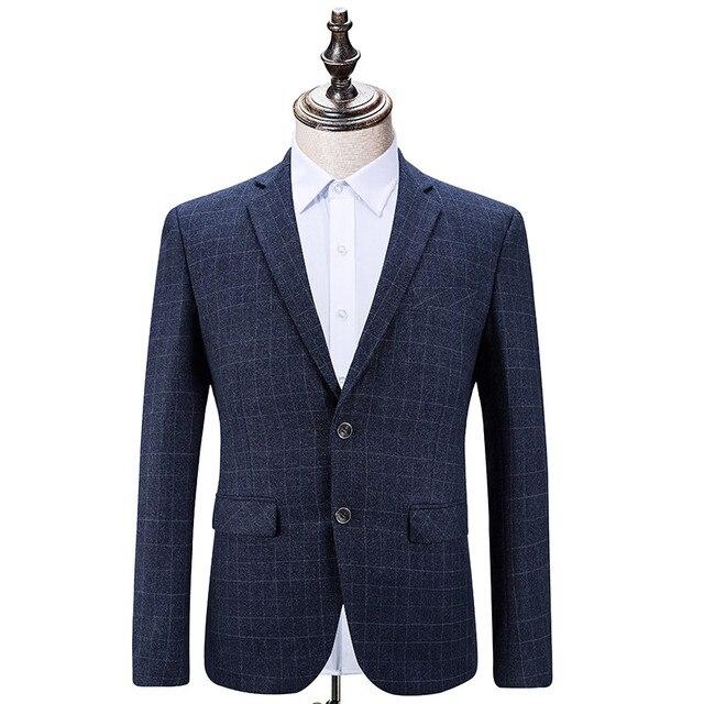 Формальные костюмы для Мужчин Бизнес Случайный господа платье Мужчины Темно-Синий Блейзер Мода костюмы Мужские Костюмы Тонкий Высококачественный Гент Жизни