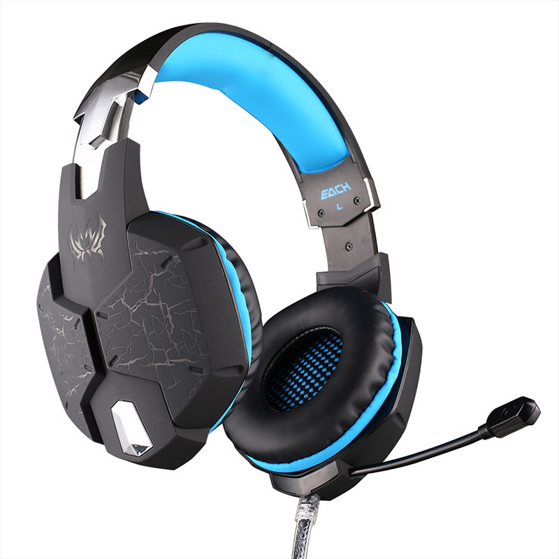 EACH G1100 Professional Gaming Headset PC gamer Headphone with Mic Breathing LED Light Vibration Function for Computer