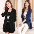 Spring Summer New 2015 Women Large Size Long Full Sleeve Open Stitch Solid Slim Tunic Casual Wind Trench Coat ZL3079