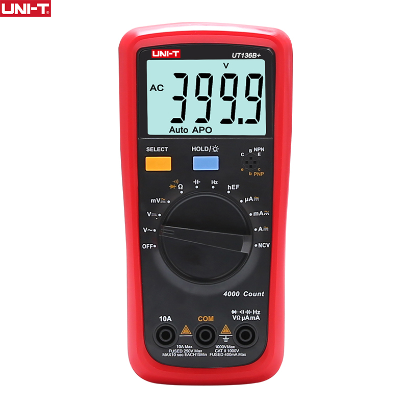 UNI-T UNIT Digital Multimeter Auto Range 1000V 10A AC DC Voltmeter Current Capacitance Meter Electric Tester Temperature Measure image