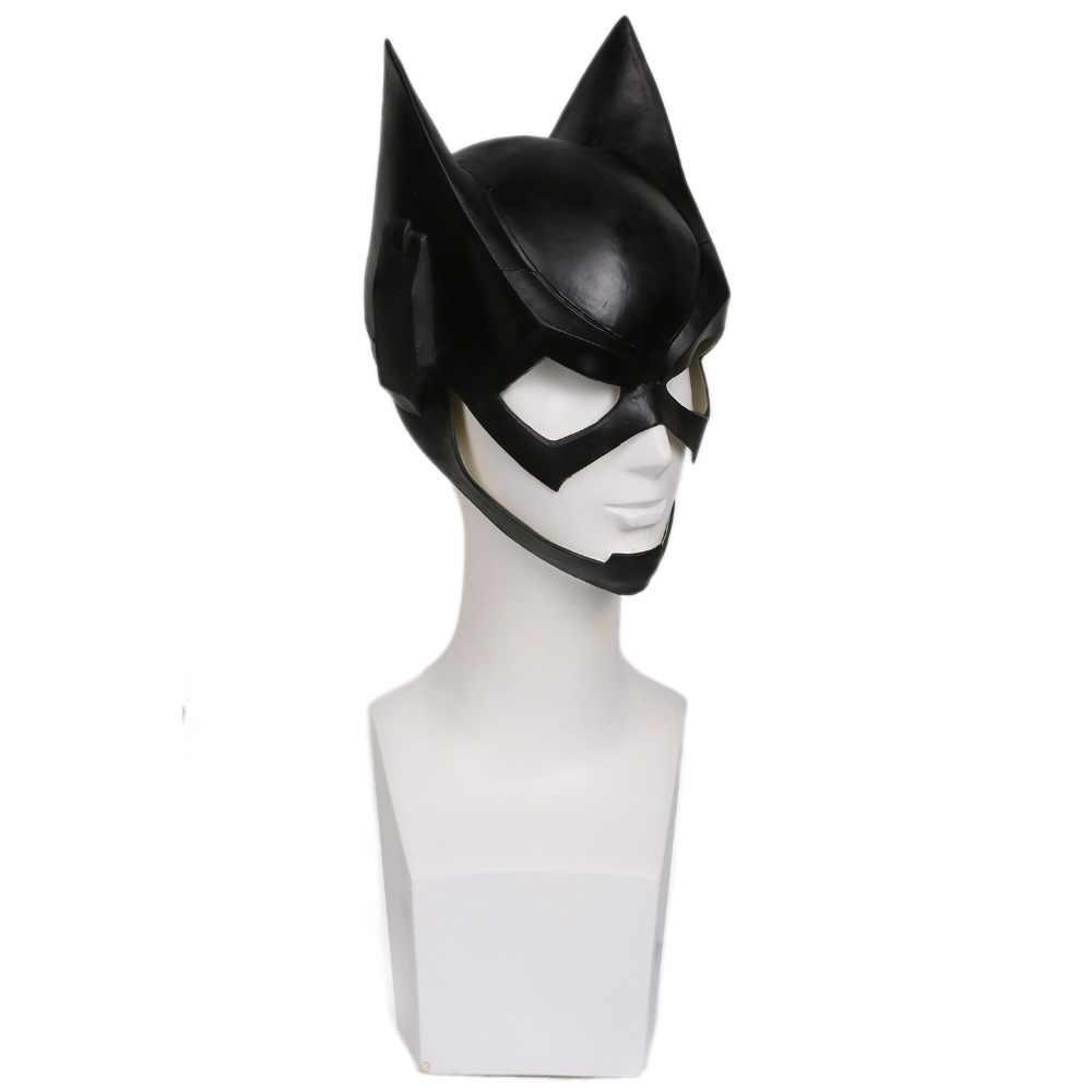 Coslive DC Comics Batgirl maska Batman lateksowy kask przebranie na karnawał rekwizyty akcesoria film replika kobiety Halloween