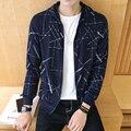 Calientes nuevos de primavera y otoño 2016 de los hombres de moda casual color sólido Delgado coreano costura chaqueta con capucha de alta calidad