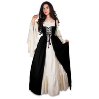 Autumn Victorian Ball Gown Dress Renaissance Wench Gothic Vacation Bandage Party Dress