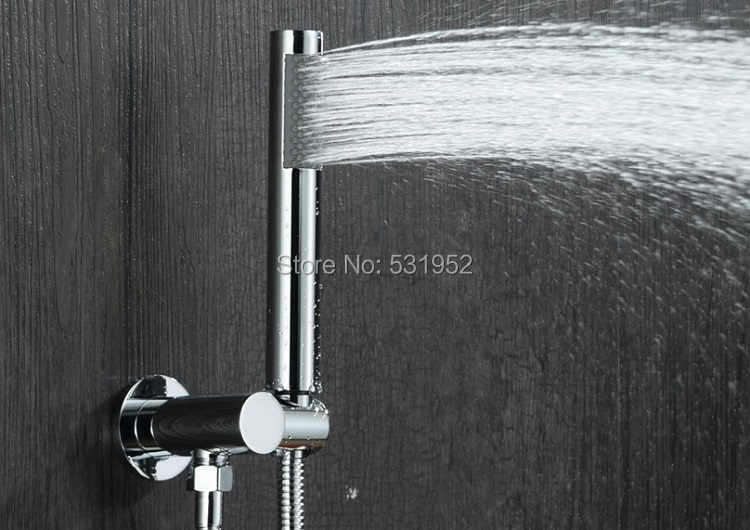 Free Shipping Copper Hand Shower Round Handheld Shower Head with Rub Clog-free Nozzles Chrome Finish Handheld Sprayer