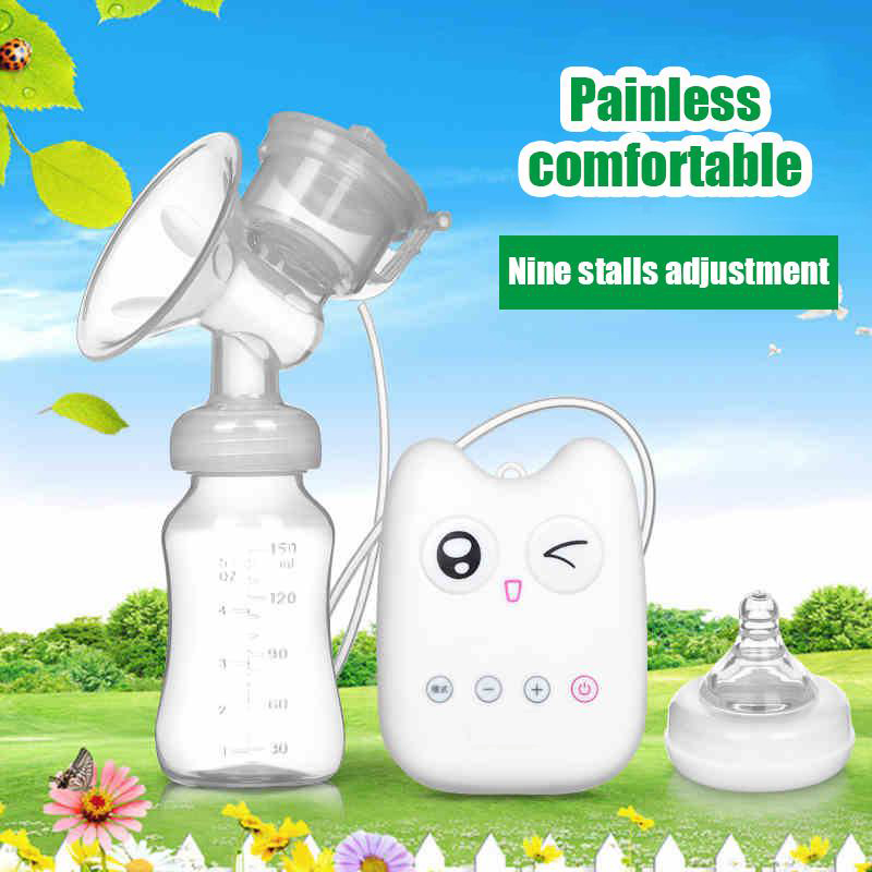 Merry Christmas USB electric breast pump automatic massage baby milk pump nipple suction pump feeding baby bottle  ER367
