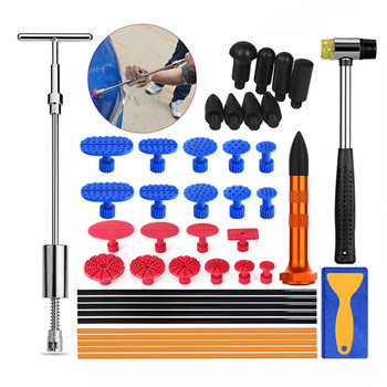 PDR Tools Car Body Dent Repair Tools Paintless Removal Kit Slide Hammer with Glue Puller Tabs Hand Set Hail Dent Removal Tools whdz pdr tools slide hammer with puller tabs dent removal repair tool paintless kits glue puller sets