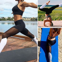 Yoga Pants Womens Yoga Gym Stretch Leggings High Waist Splice Fitness Slim Trouser 2017 New