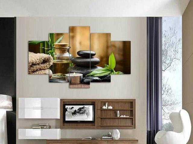 Steen In Interieur : 5 stks modern interieur woonkamer decor spa steen bamboe kaarsen
