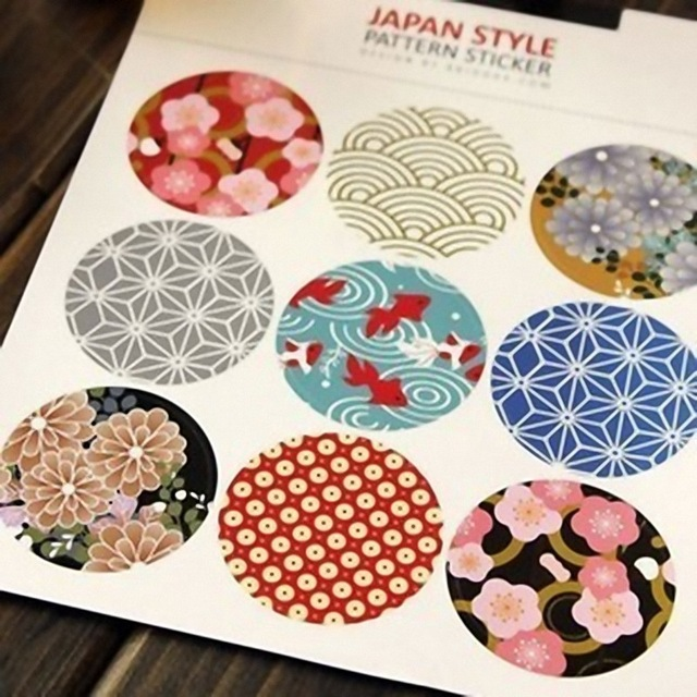90pcs japanese traditional printing sealing paste stickers kawaii stationery sticker diy handmade accessories