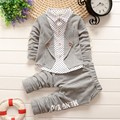 BibiCola autumn Baby Boys Clothing Sets Toddler child 2pcs Clothes Suit Tracksuit Kid Gentleman Stripe Outfits formal shirt coat
