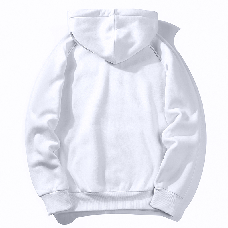 Image 2 - Warm Fleece Hoodies Men Sweatshirts 2019 New Spring Autumn Solid White Color Hip Hop Streetwear Hoody Man's Clothing EU SZIE XXL-in Hoodies & Sweatshirts from Men's Clothing
