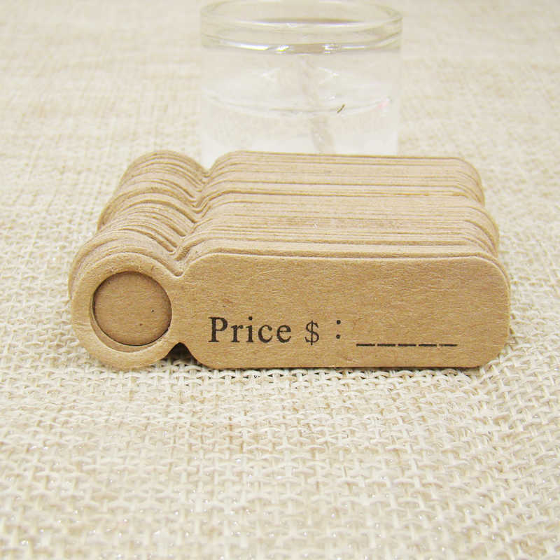 5*1.30cm 100pcs per lot Kraft/white price label hang tag for lovely products decoration package price tag label
