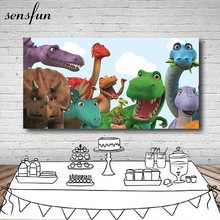 Sensfunジュラ紀恐竜パーティー写真背景 200 × 100 センチメートルカスタム誕生日パーティー写真スタジオの背景ビニール