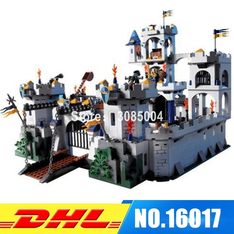 Lepin 16017 1023pcs Castle Series The King\'s Castle Siege Building Block Compatible 7094 Brick Toy lepin 16017 castle series genuine the king s castle siege set children building blocks bricks educational toys model gifts
