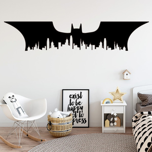 Batman New York City Vinyl Wall Sticker For Babys Kids Rooms Decoration Accessories Wall Decals Stickers Mural Muraux