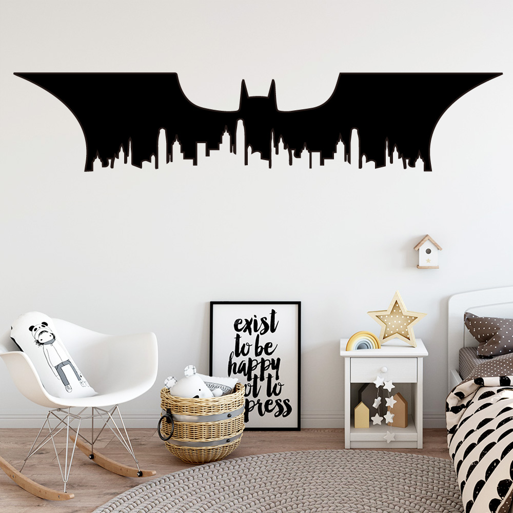 Contracted Batman Feathers Vinyl Wall Stickers Wall Decor For Babys Kids Rooms Decoration Wall Decals Sticker Murals wallsticker
