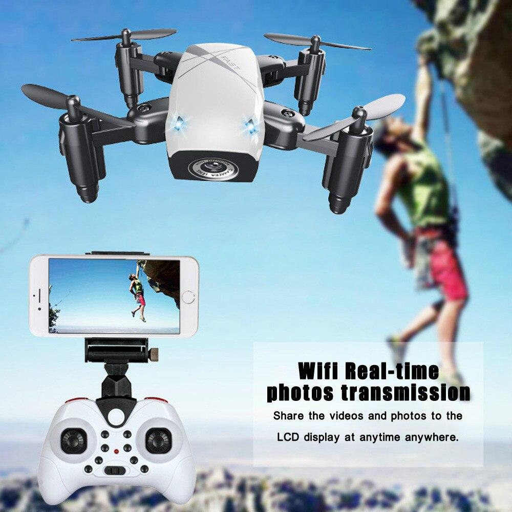 S9 S9HW Mini Pliable Poche Drone avec Caméra HD Dron FPV RC WIFI Quadcopter/Hélicoptère VS visuo Xs809hw JJRC H43WH JXD 523 W