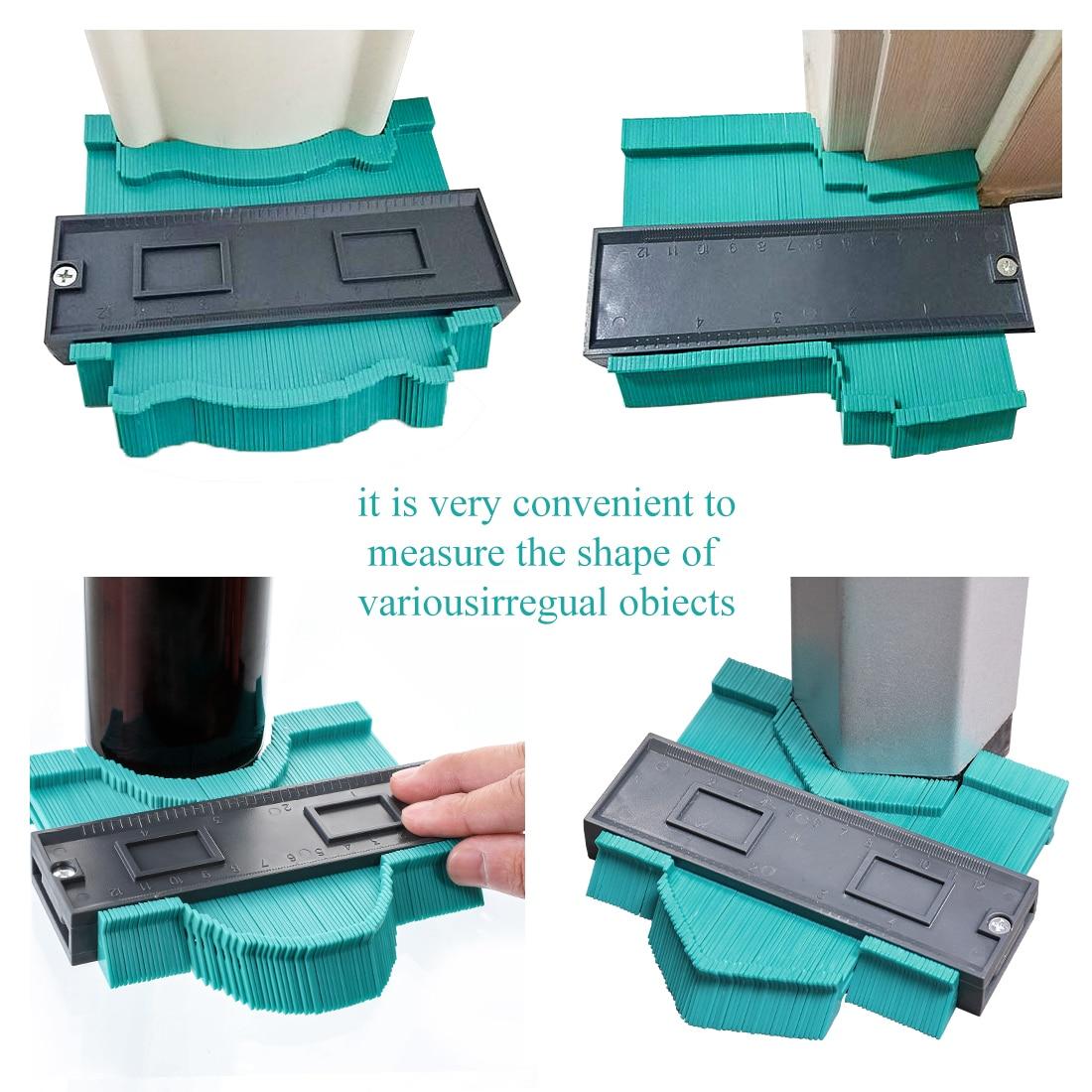 Многофункциональный контурный профиль калибровочный плиточный ламинат кромка формирующая деревянная измерительная линейка ABS контурный манометр Дубликатор 5/10 дюймов