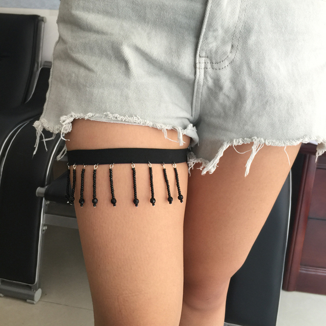505b3fb3a36 Sexy Leg Garters Punk Sock Garters Women s Harajuku Body Harness Belt Leg  Decorations Necklace Harness Goth
