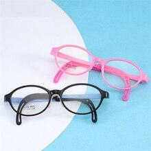 Круглые оптические детские оправы TR90 силиконовые детские очки для мальчиков и девочек гибкие защитные очки Безопасность Студенческая Близорукость Рамка