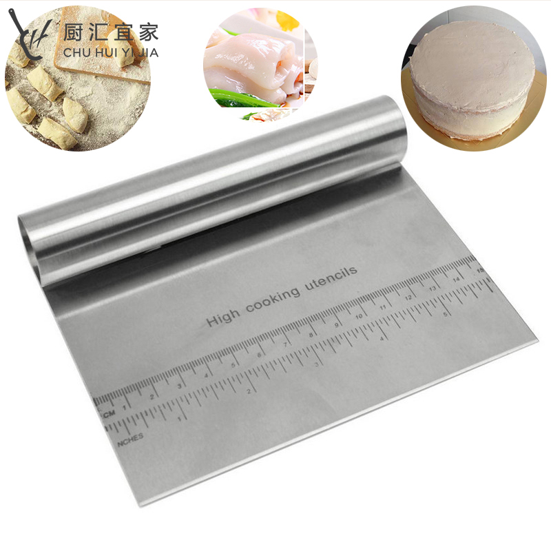 Pastry Cutter Stainless Steel Pizza Dough Scraper Cutter Baking Pastry Spatulas Fondant Cream Cake Decoration Kitchen Tools