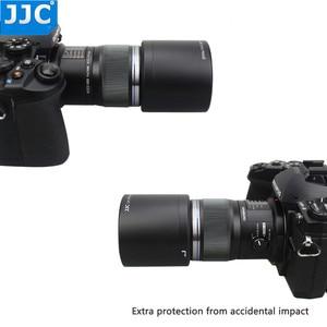 Image 5 - JJC ABS adanmış Lens Hood gölge koruyucu Olympus M.ZUIKO dijital ED 60mm f2.8 makro Lens yerine Olympus LH 49 siyah