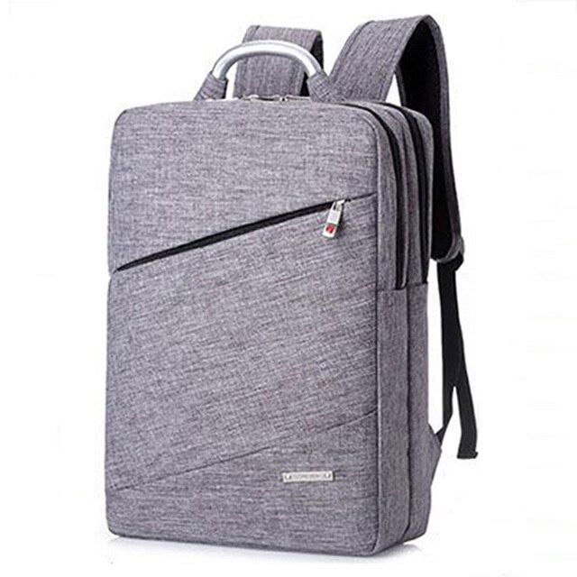 1c24afc390b3 US $20.11 46% OFF|2018 Fashion Backpack Men Notebook Laptop Backpack Bag 14  Inch Female Rucksack High Quality School Bag Business Women Backpacks-in ...