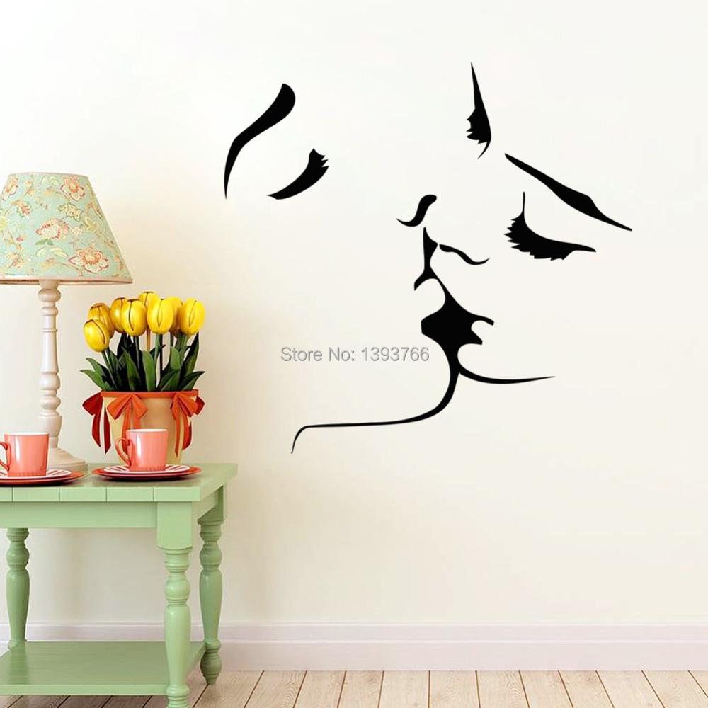 beso de los pares de la pared pegatinas decoracin decoracin de la boda etiqueta de