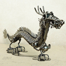 Creative new metal Chinese dragon model display Fashion home decoration desk  accessories modern