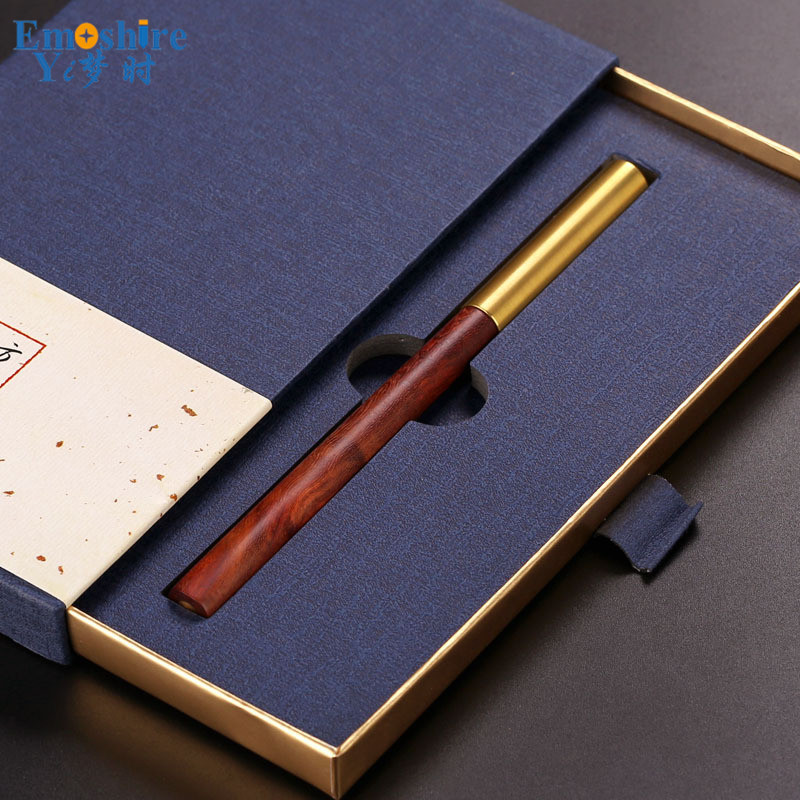 criativa caneta esferografica de bronze material 02