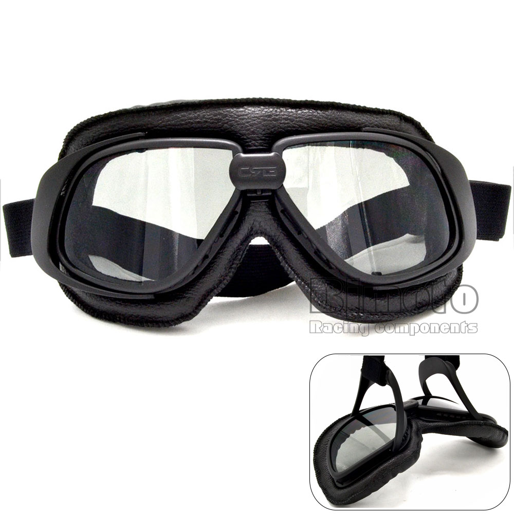 GT-007-SM Vintage motorcycle goggles Smoking steampunk goggles cheap coating sport sunglasses for harley vintage pilot