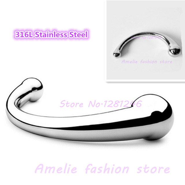 316L Stainless Steel G Spot Wand Massage Stick Pure Metal Penis P Spot Stimulation -1618