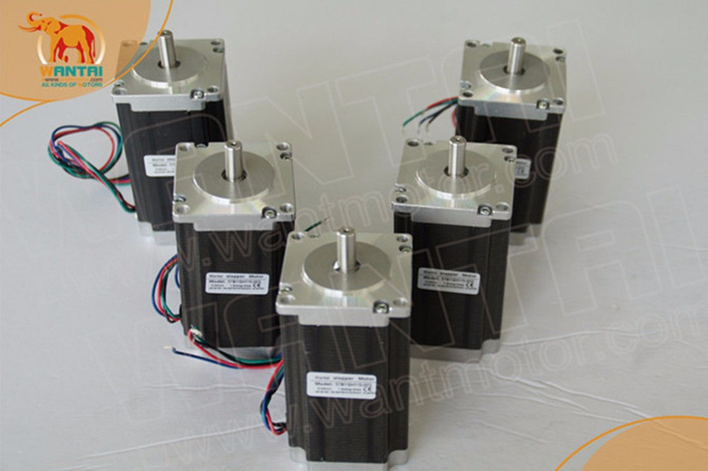 Germany Free ship - 5PCS Nema23 Wantai Stepper Motor 428oz-in WT57STH115-<font><b>4204A</b></font>,Single Shaft , 4.2A image