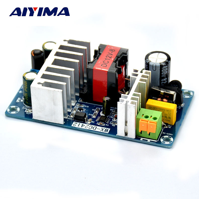AIYIMA AC 85-265V To DC 12V 8A AC/DC 50/60Hz Switching Power Supply Module Board meanwell 12v 75w ul certificated nes series switching power supply 85 264v ac to 12v dc