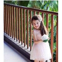 여자 등이없는 사랑 심장 드레스 공식적인 레이스 아기 공주 들러리 활 여자 드레스 웨딩 파티 드레스 드레스 2-8Y L186
