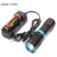 5000 Lumens Cree XM L2 LED Diving Flashlight Torch 100M Underwater Waterproof Scuba Lantern 26650 Battery