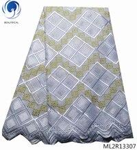 Красивая новейшая кружевная ткань, африканская вуаль, хлопок, швейцарское кружево 2019, кружевная ткань, бесплатная доставка, 5 ярдов/лот ML2R133