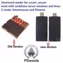 Спутниковый считыватель смарт-карт для cccam oscam card share Smartmouse Phoenix smartCard Programmer/reader 8 Crystal