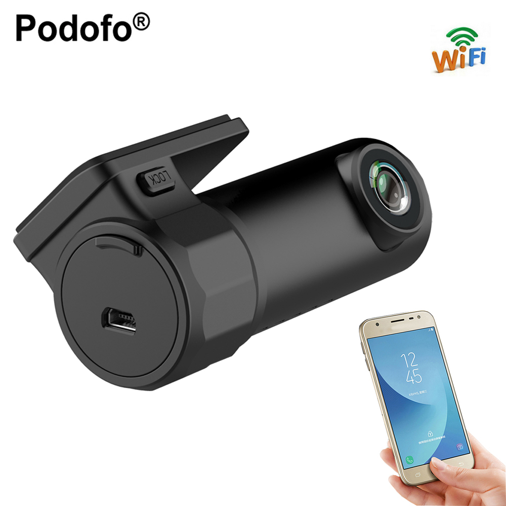 Podofo Dash Cam Mini WIFI Car DVR Camera Digital Registrar Video Recorder DashCam Auto Camcorder Wireless DVR APP Monitor